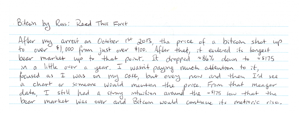 Ross Ulbricht Uses Elliot Waves to Predict Bitcoin's Trajectory From Behind Bars