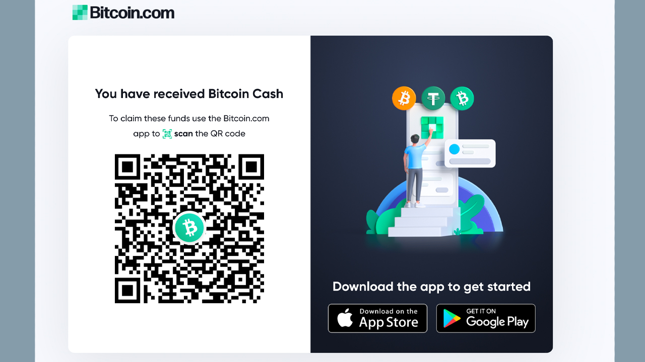 Bitcoin.com Wallet Adds Shareable Payment Link Feature - Send Bitcoin Cash to Anyone via Text, Email, and Social Media
