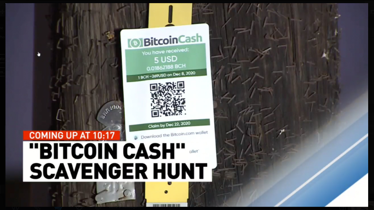 Fox News Report Highlights Bitcoin Cash Proponent's Modern Day Scavenger Hunt