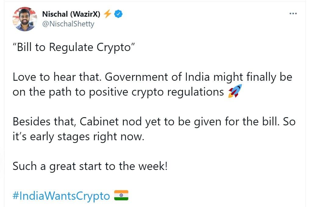 Cryptocurrencies, Indian Government Recommends Ban on  all Cryptocurrencies