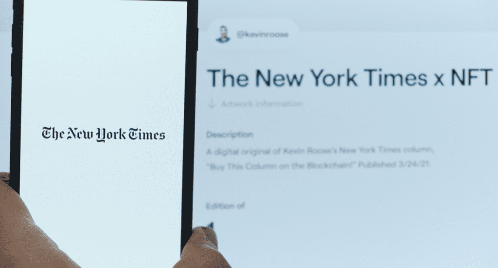 New York Times NFT sells for $560,000