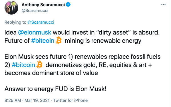 Anthony Scaramucci, Anthony Scaramucci Claims Elon Musk Owns $5 Billion In Bitcoin