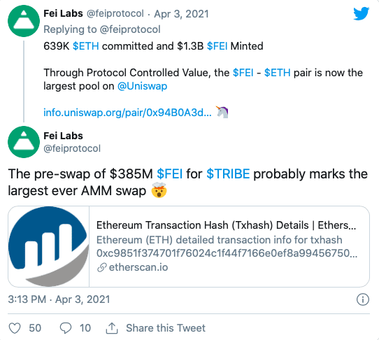 Fei Labs, Fei Labs Raises 639,000 Ethereum For Stablecoin Project
