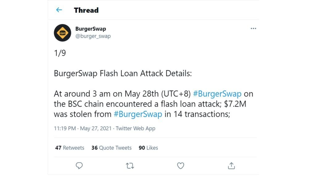 BurgerSwap, BurgerSwap Compromised — Attackers Walk Away With $7.2M in Exploits