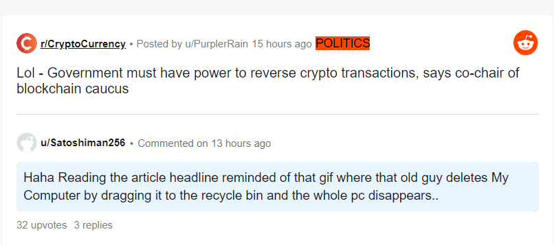 transactions, US lawmaker gets trolled for suggesting reversible crypto transactions