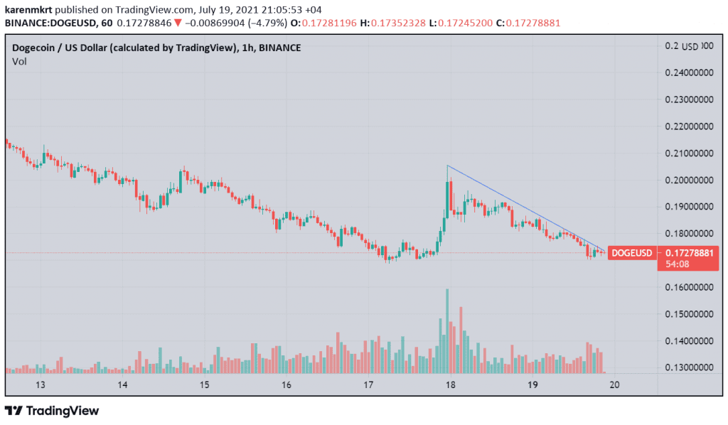 Dogecoin is currently trading at $0.17. Credit:-DOGEUSD on TradingView