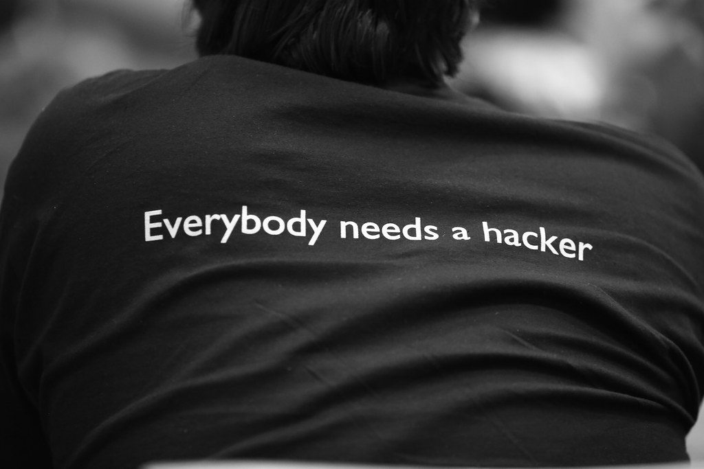 """""""Everybody needs a hacker""""byAlexandre Dulaunoy(licensed underCC BY-SA 2.0)"""