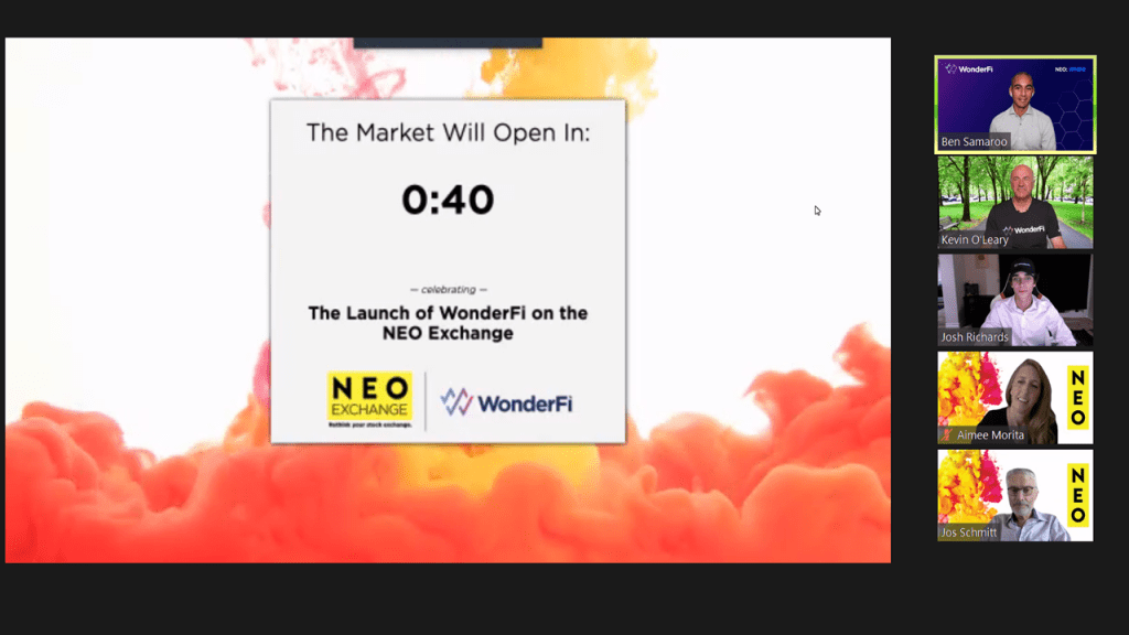 Decentralized Finance (DeFi) platform WonderFi launched on NEO, one of Canada's most active exchanges. It will trade under the ticker WNDR.